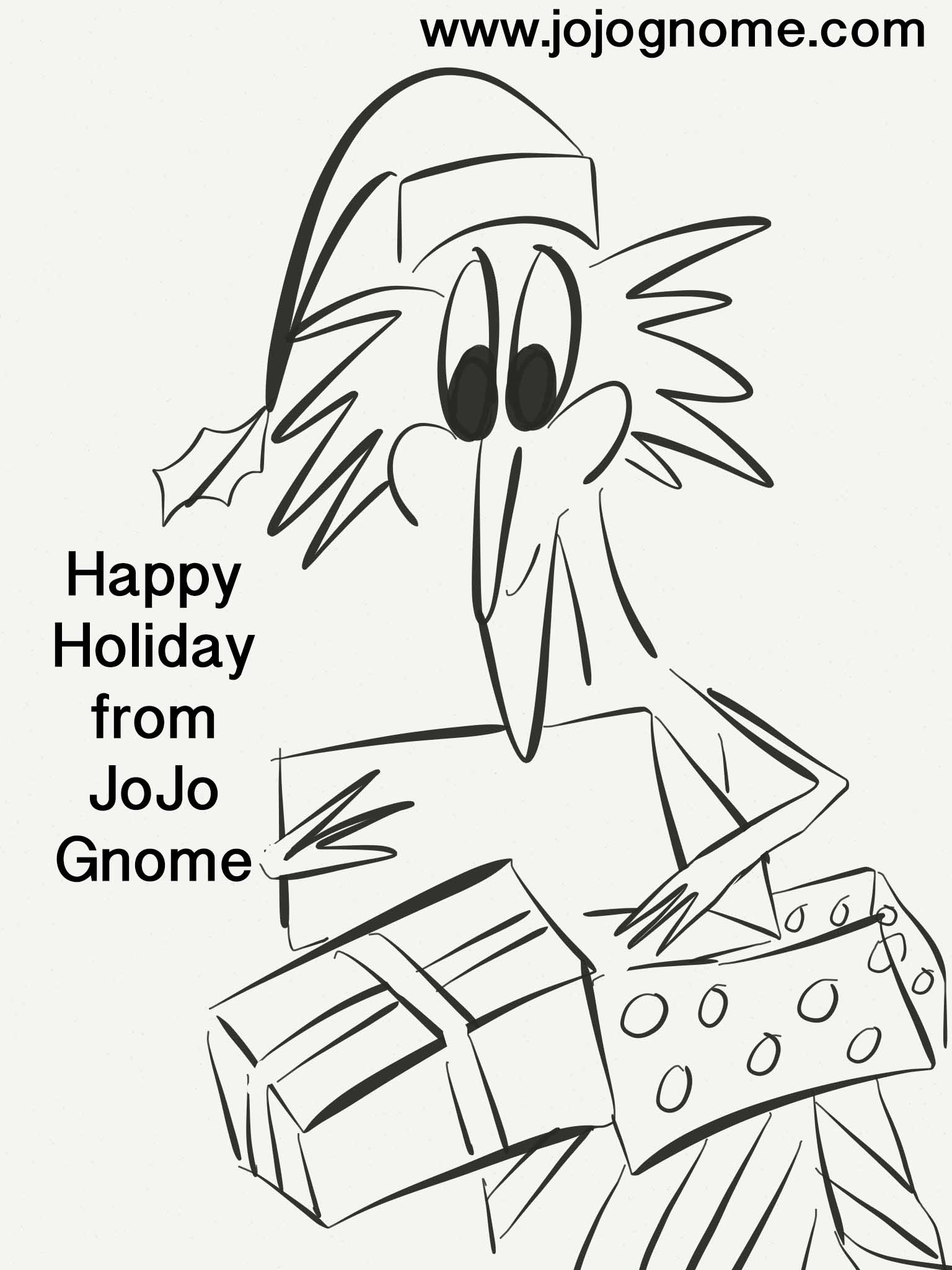 jojo gnome u0027s christmas colouring pages jojognome