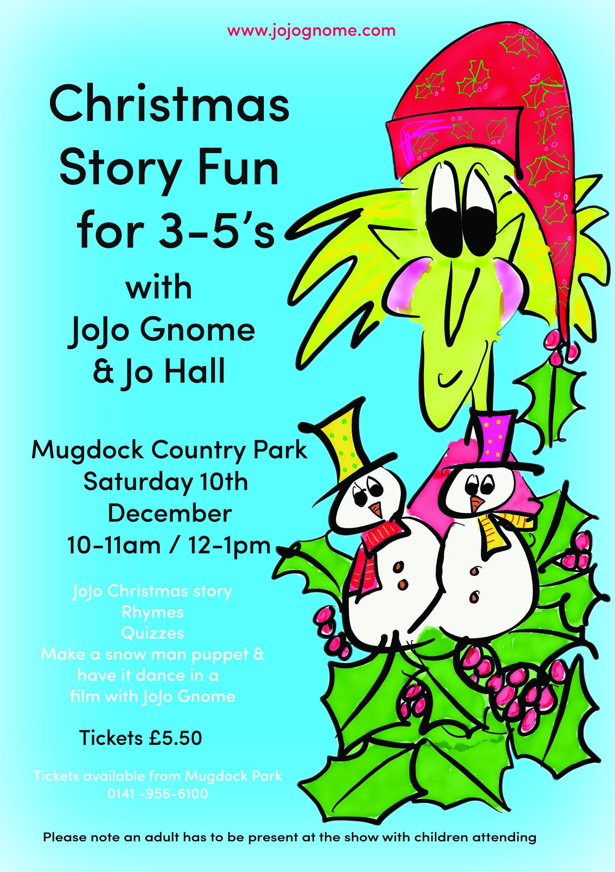 Christmas Story Telling & Film fun at Mugdock   JoJoGnome