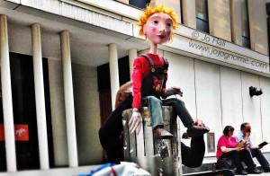 Watermarked blip puppet