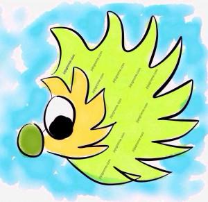 Watermarked Hedgehog