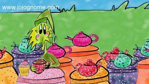 jojo with teapots