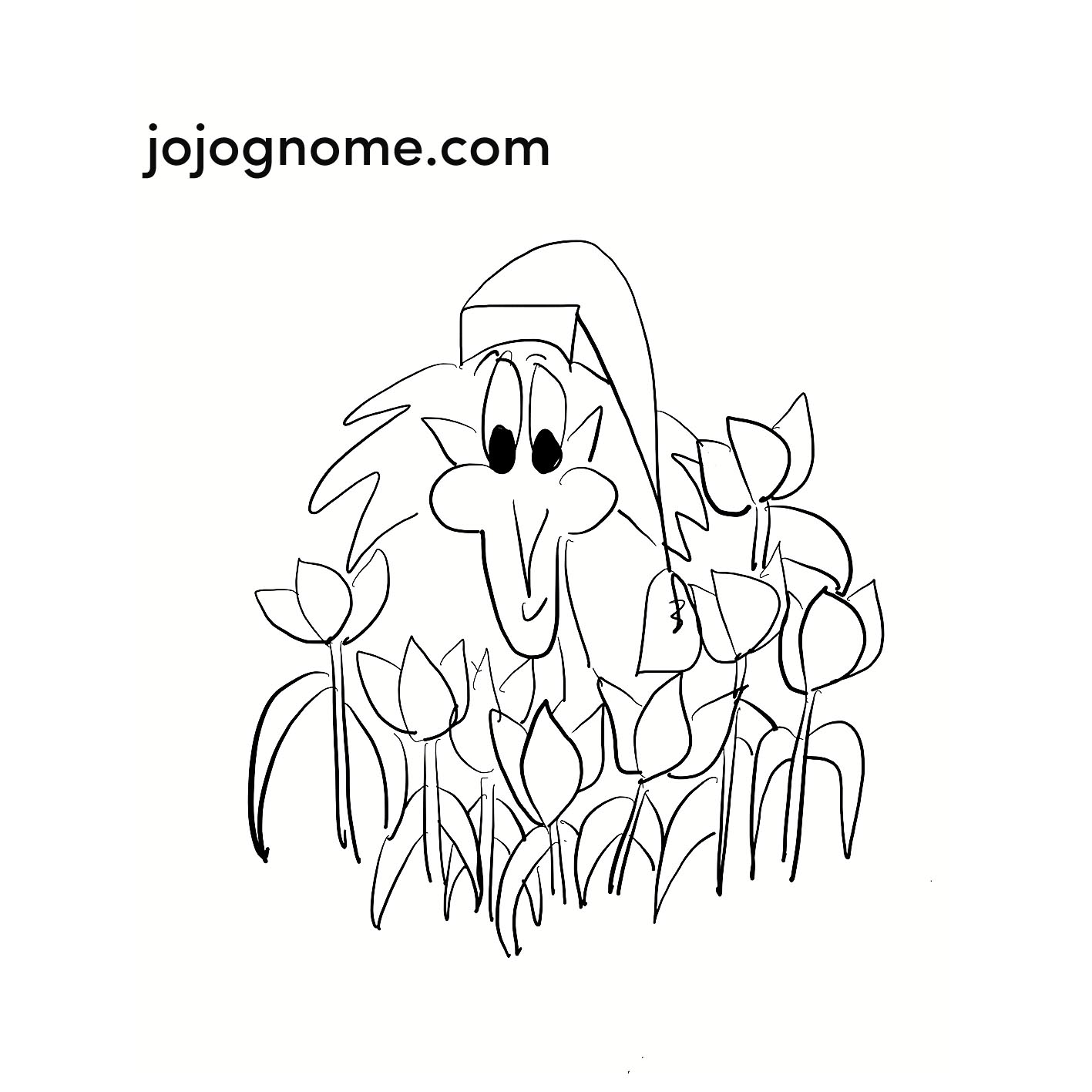 JoJo Gnome Spring Colouring In Pages | JoJoGnome