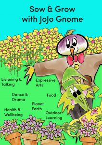 Poster for JoJo Gnome's Sow and Grow Workshop Spring 2020