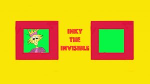 Drawing of Super hero Inky the Invisible